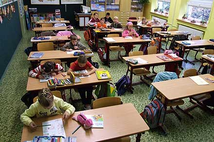 Pohled do jedné ze tříd na I. stupni ...