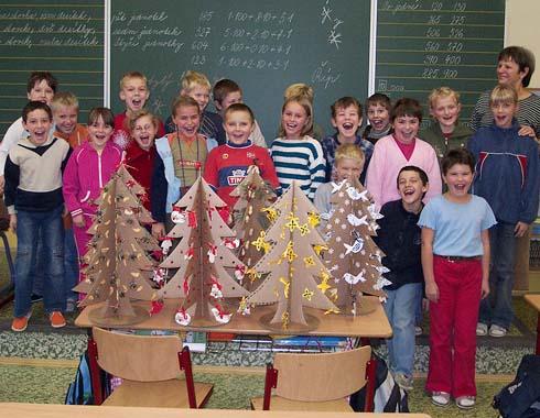 Stromečky do soutěže od žáků ze třídy 3. B
