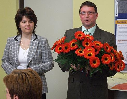 Pan starosta L. Volek blahopřeje ke Dni učitelů ...