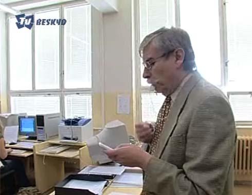 Pan Jaroslav Zaviačič startuje soutěž ...