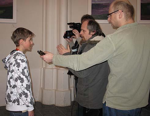 Milan poskytuje rozhovor RTA Ostrava ...