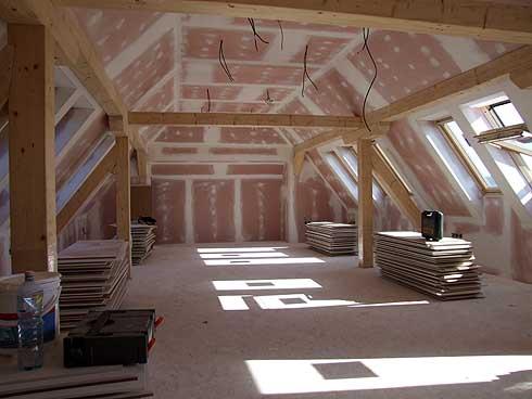Příprava na pokládání další podlahové vrstvy ...