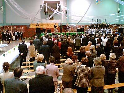 Zahájení akademie zpěvem polské hymny